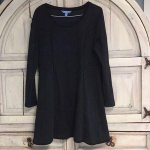 NWOT Simply Vera Wang Black Blue Long Sleeve Dress